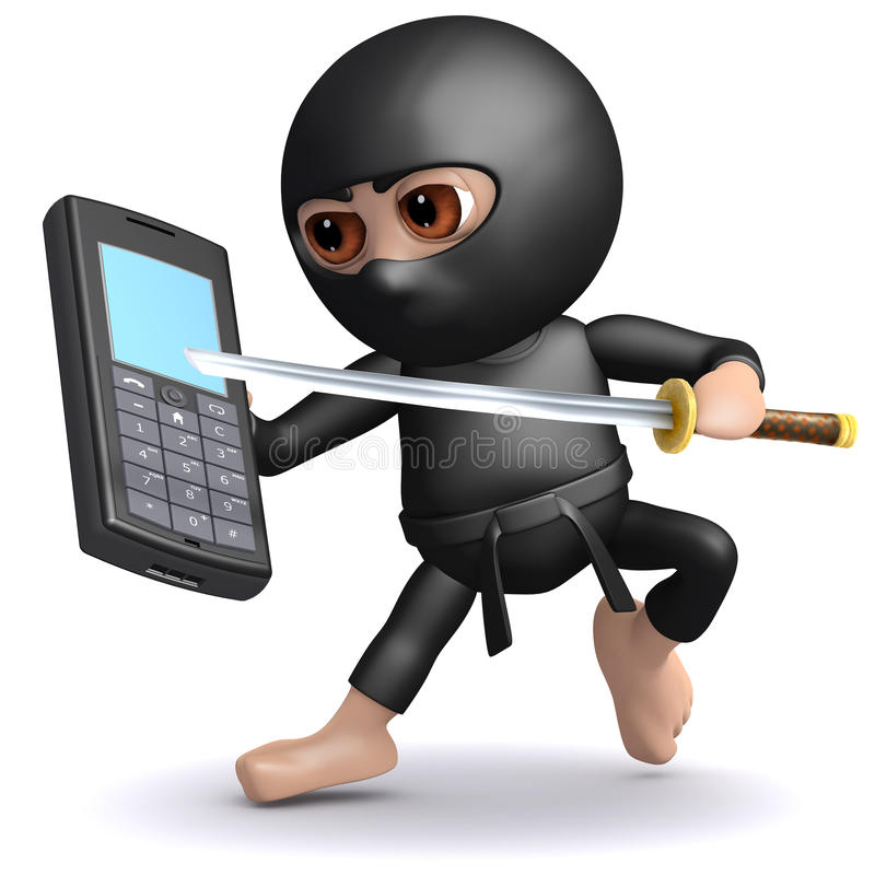 Free 3d Ninja Mobile Stock Images - 38790224