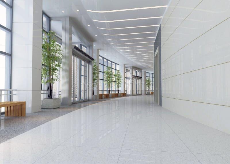 3d nowożytna korytarz sala royalty ilustracja