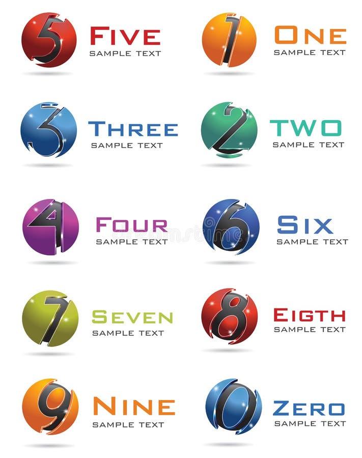 3D nummeriert Zeichen