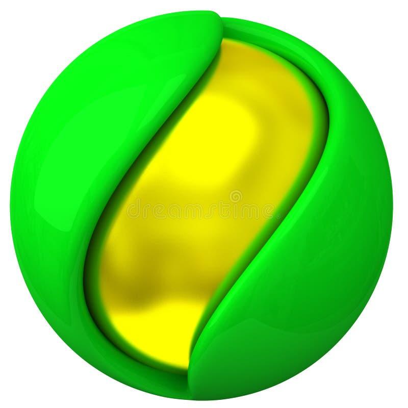 3d objet abstrait - sphère posée illustration libre de droits