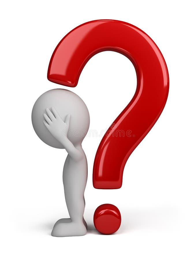 3d oceny osoby pytanie royalty ilustracja