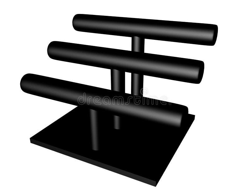 3d Odpłacają się Czarny bransoletka stojak ilustracji