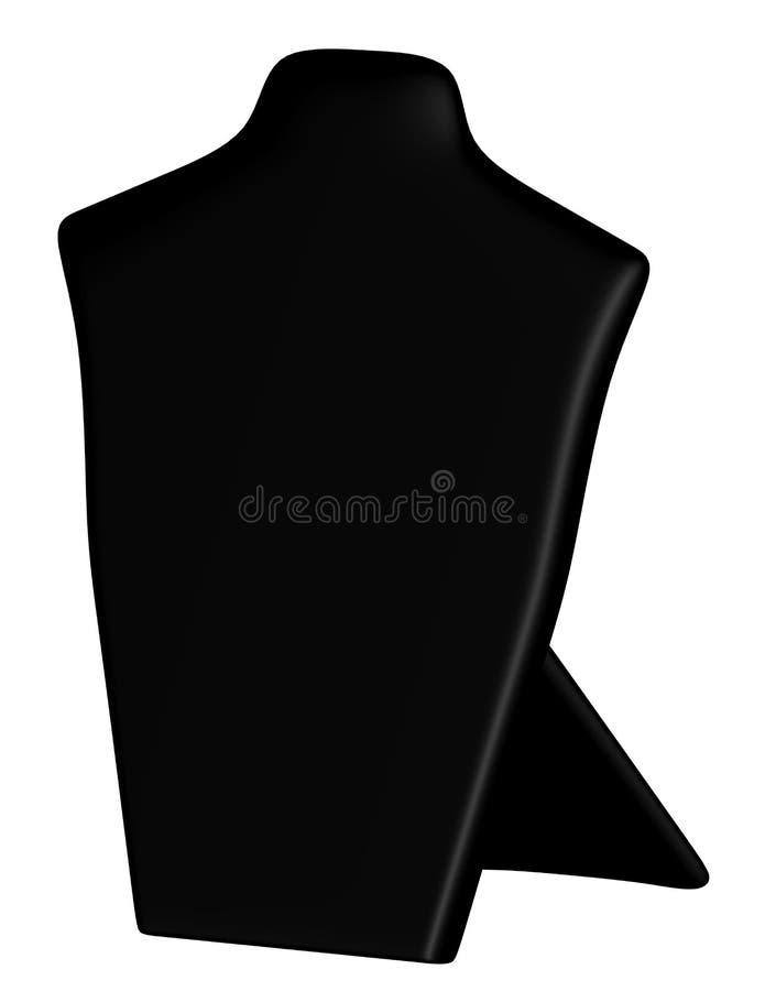 3d Odpłacają się Czarny kolia pokazu stojak royalty ilustracja