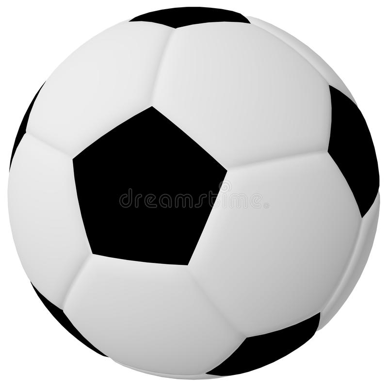 3d Odpłacają się Piłka nożna/Futbolowa Piłka ilustracja wektor