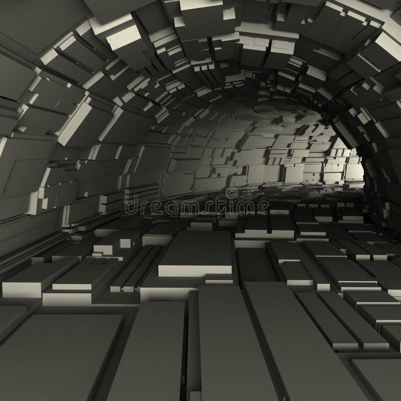 3d odpłacają się tunel ilustracja wektor