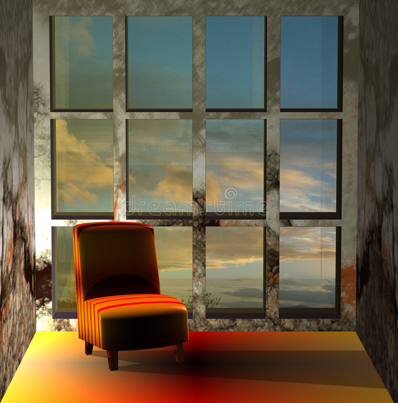 Free 3D Of A Sofa In Sunset Stock Images - 9190654