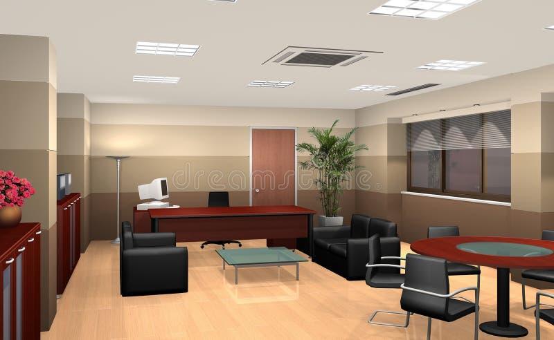 3D office. 3D rendering of an office