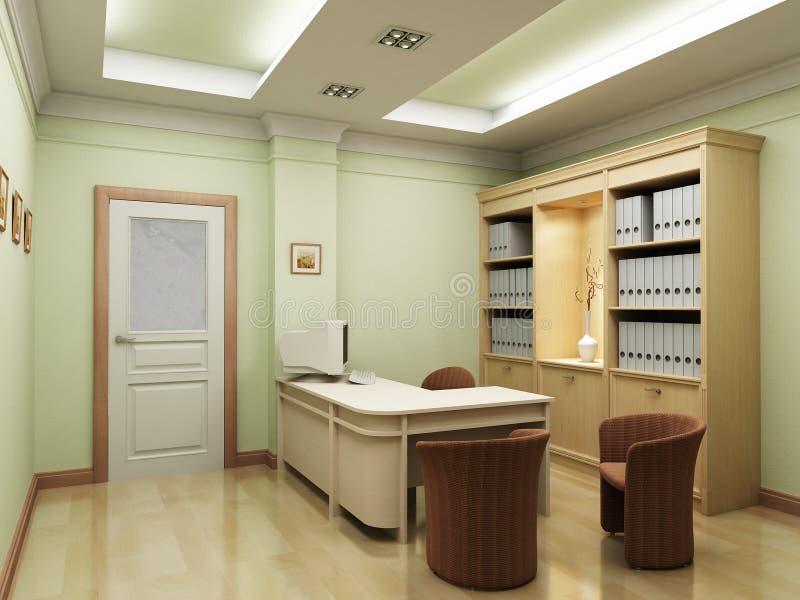 3d office rendering stock illustration