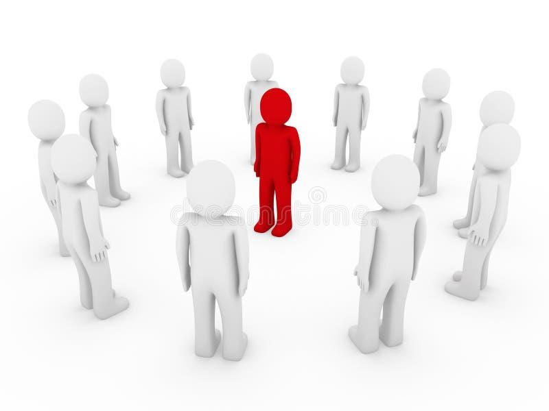 3d okręgu istoty ludzkiej czerwień ilustracja wektor
