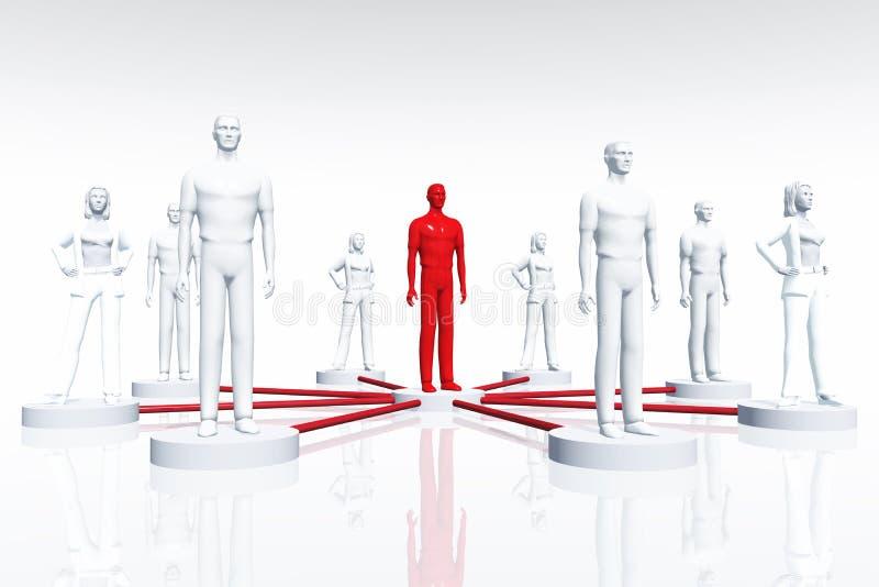 3d okręgu związków wewnętrzna sieć odpłaca się ilustracji