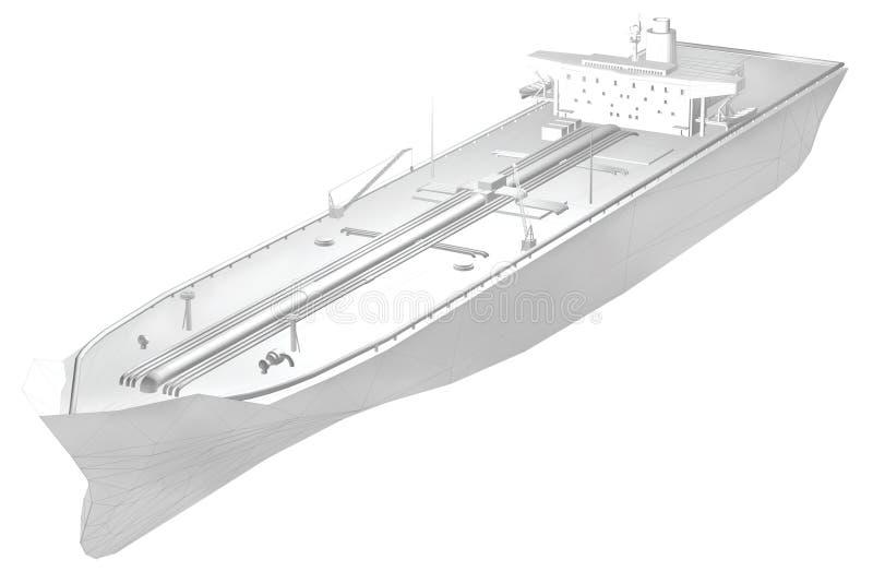 3d olietanker royalty-vrije illustratie