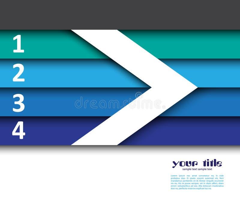 3d ontwerp met banners/websitemalplaatje stock illustratie