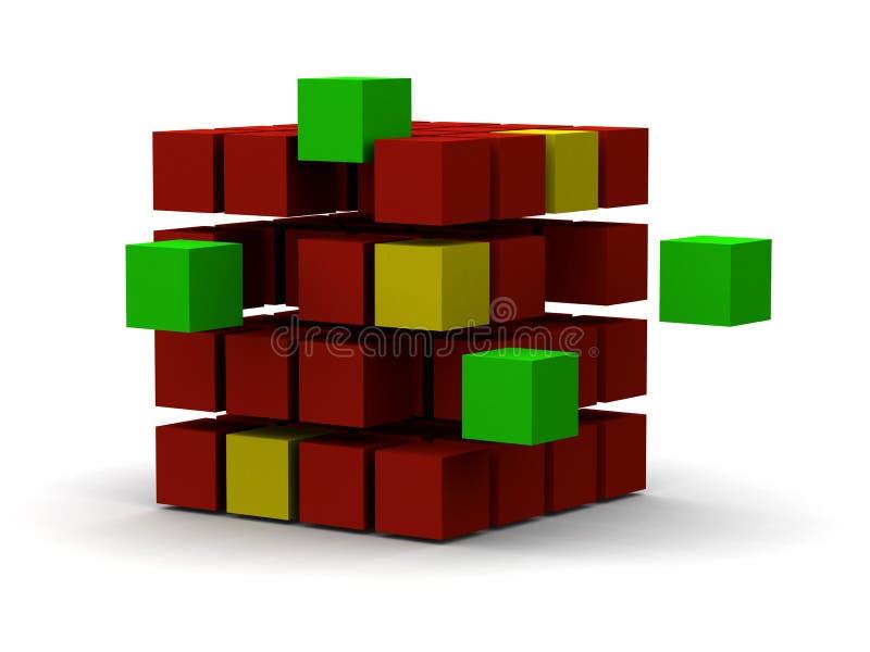 3d ontwerp van de doorbraak stock illustratie