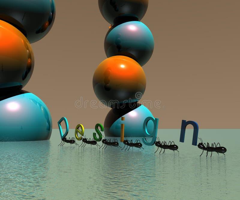3D Ontwerp van de Objecten van het Embleem stock illustratie