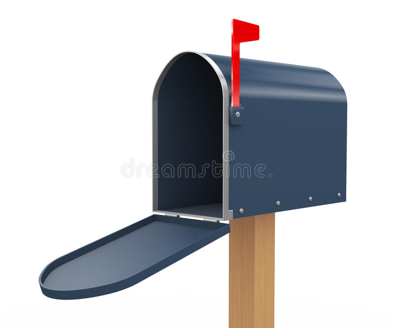 3d Open Mailbox Stock Photos