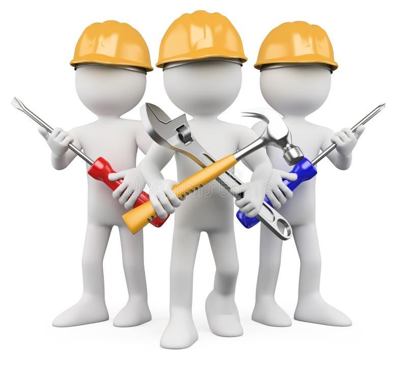 3D operai - squadra di lavoro illustrazione di stock