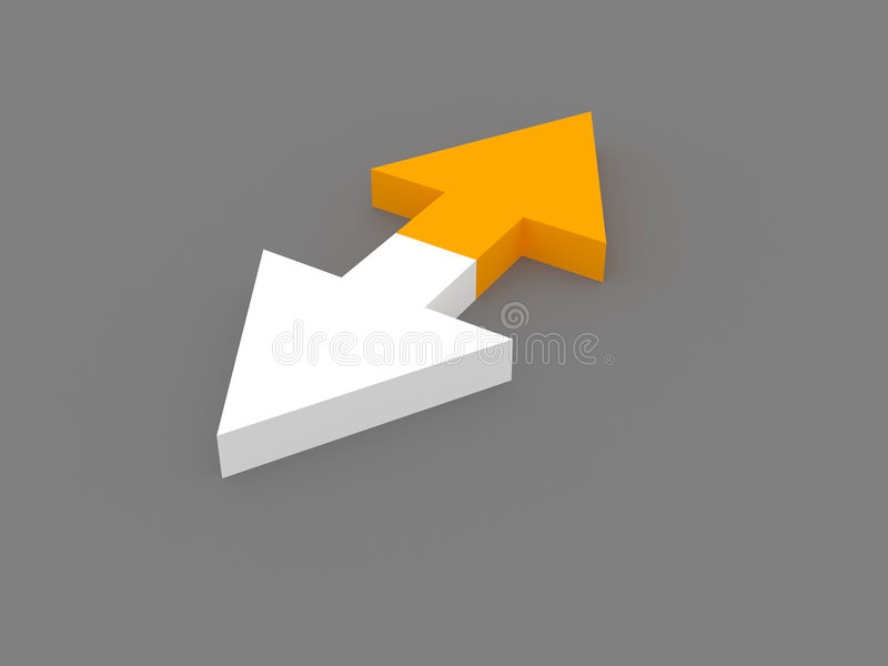 3d Opposite Arrows Stock Images