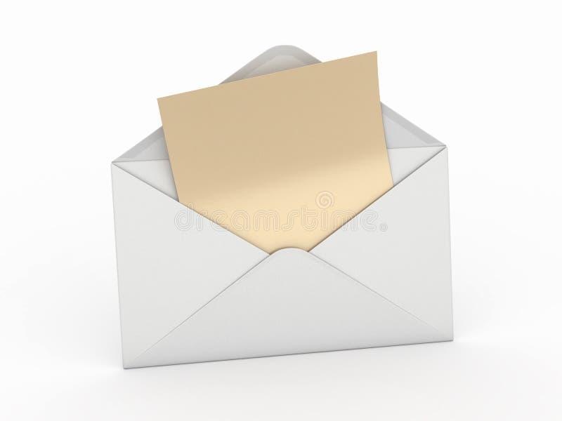 3d opróżniają kopertową listową poczta royalty ilustracja