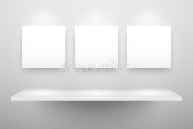3d opróżniają odosobnioną półkę ilustracji