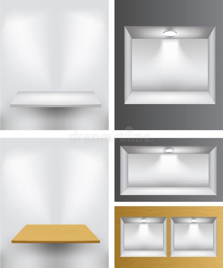 3d opróżniają półki ilustracji