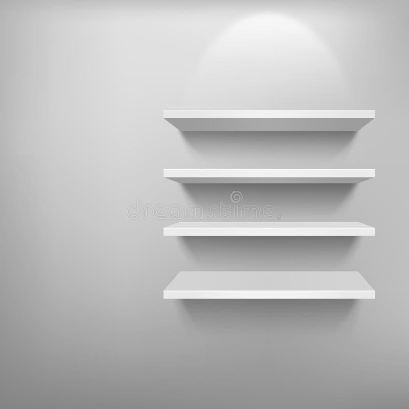 3d opróżniają szelfowego eksponata biel ilustracji