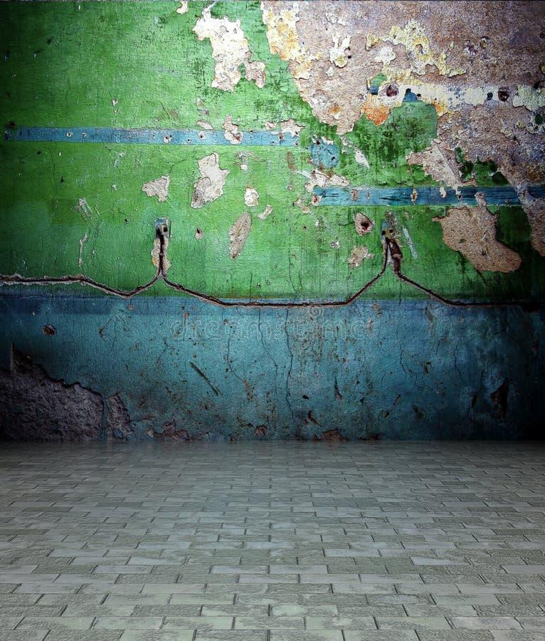 3d opróżniają wewnętrzną farby obierania tekstury ścianę obrazy royalty free