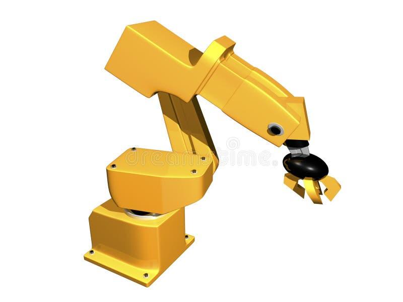 3D Orange robotic arm
