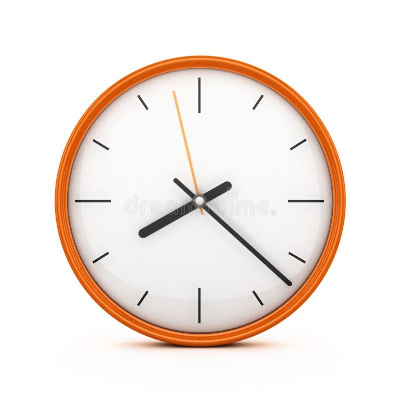 3D Oranje klok stock illustratie
