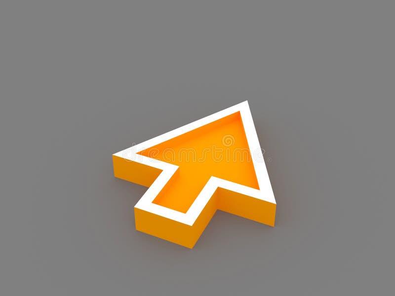 3d oranje pijl vector illustratie