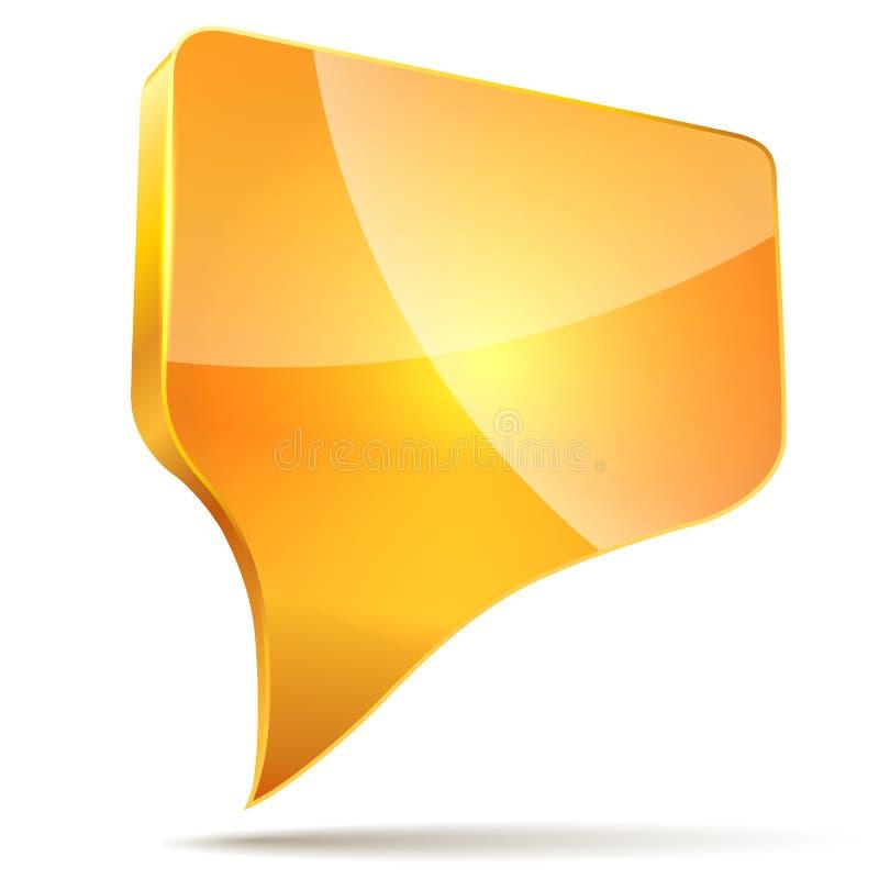 3d oranje toespraakbel vector illustratie