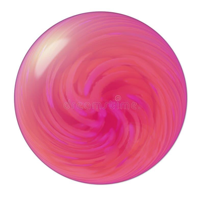 3D orb met roze werveling royalty-vrije illustratie