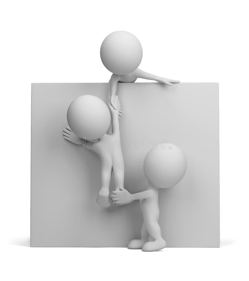 3d osoba - pomoc przyjaciel ilustracji