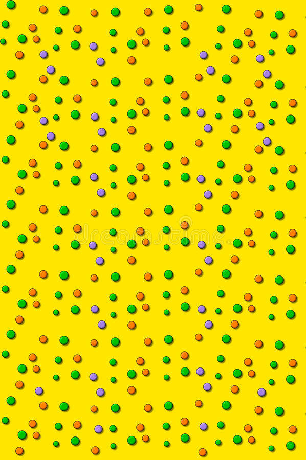 Download 3D Outlined Dots Yellow Stock Photography - Image: 18828322