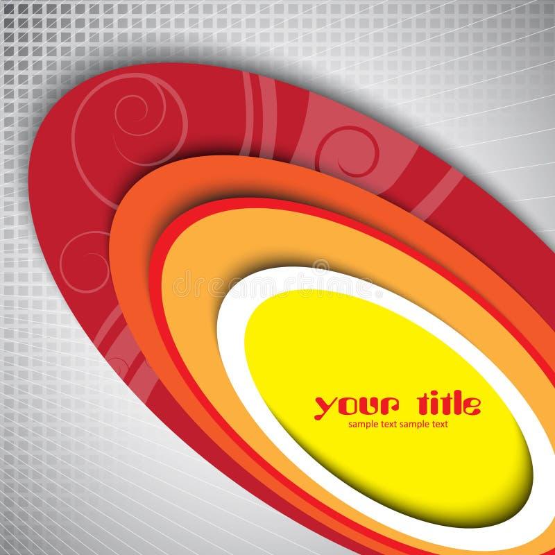 3d oval design. On grey texture stock illustration