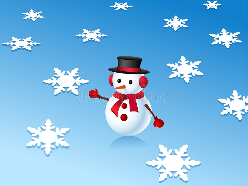 3d płatków śniegu bałwan ilustracji