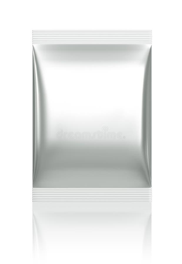 3D pakket van de sachetzak stock fotografie
