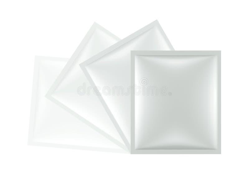 3D pakket van de sachetzak stock illustratie