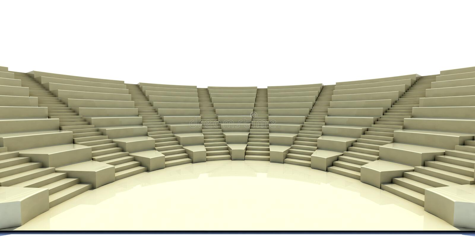3d parliament. Flight of steps, seat and stage vector illustration