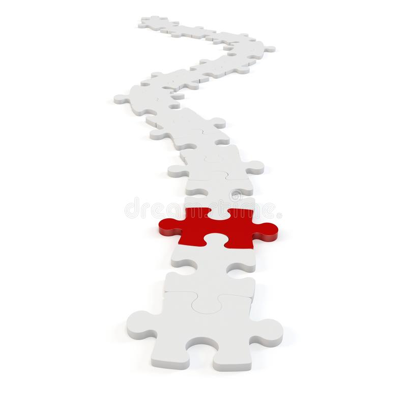 3d path of puzzle vector illustration