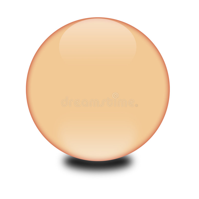 3d peach colored sphere royalty free stock photos