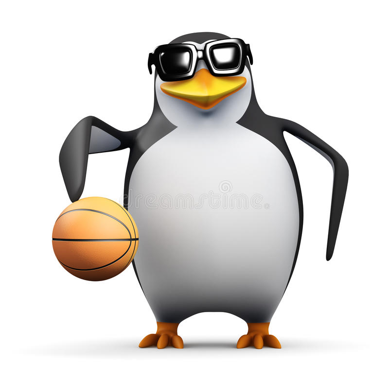 Free 3d Penguin Basketball Player Royalty Free Stock Photo - 41841385