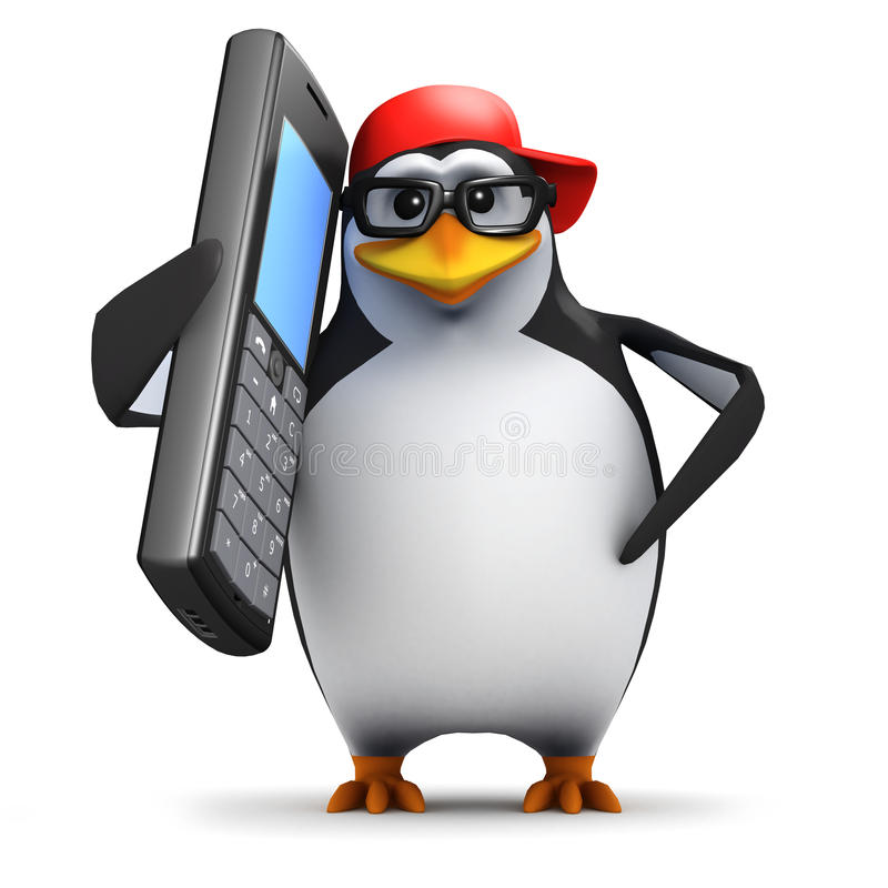 Free 3d Penguin Mobile Stock Photos - 39011113