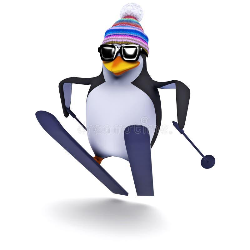 Free 3d Penguin Ski Jump Stock Photos - 43767343