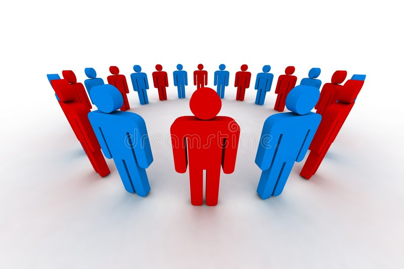 Download 3d people stock illustration. Illustration of crowd, society - 4846366