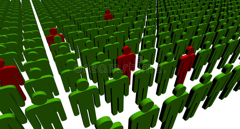 Download 3d people stock illustration. Illustration of people, collective - 4859802