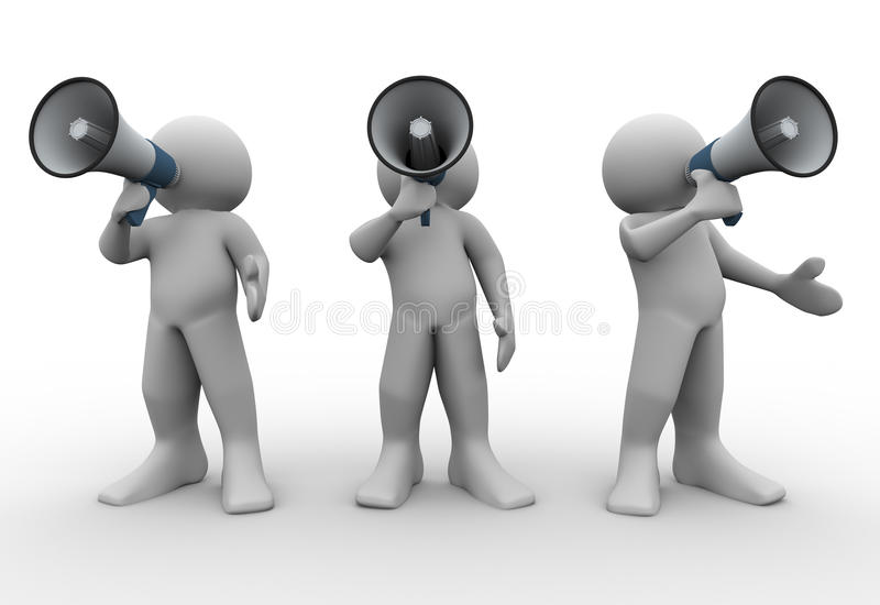 Download 3d people annoucement stock illustration. Image of communicate - 24220122