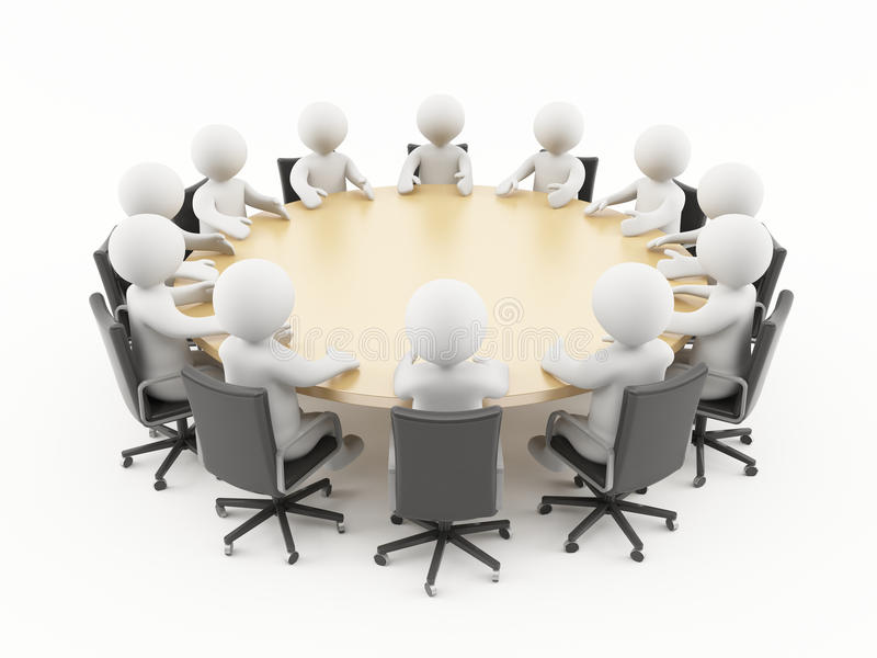 3D people in a business meeting royalty free stock images