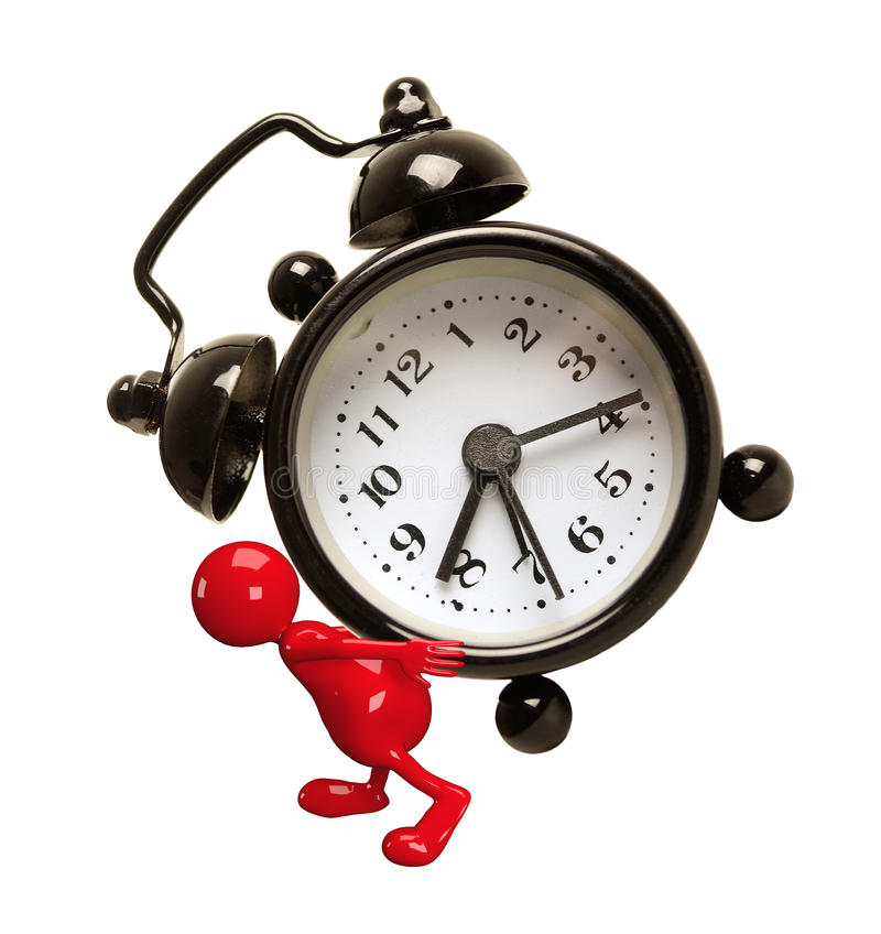 Download 3D People with Clock stock illustration. Image of deadline - 28496853