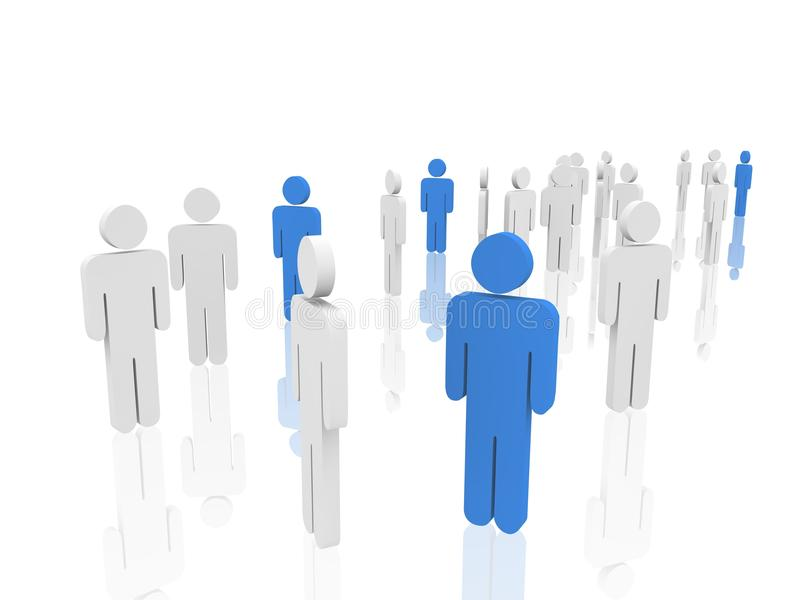 3d people concept stock illustration