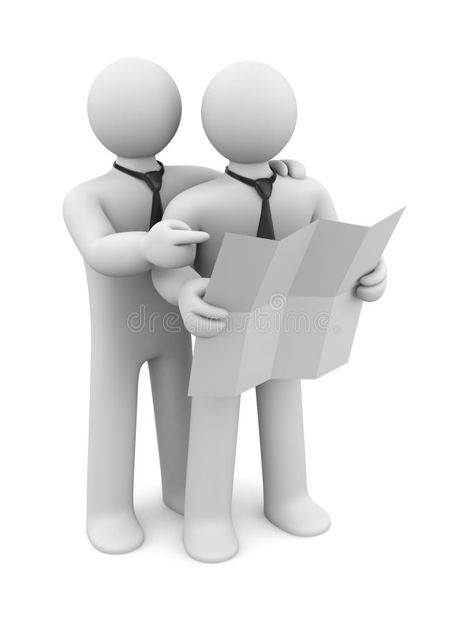 Download 3d people discuss document stock illustration. Illustration of help - 24315979